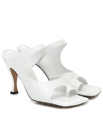 Bottega Veneta - Leather sandals - mytheresa.com