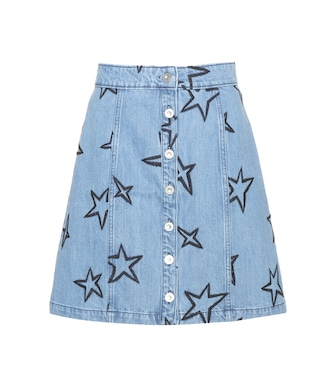 Être Cécile - Star-embroidered denim miniskirt - mytheresa.com