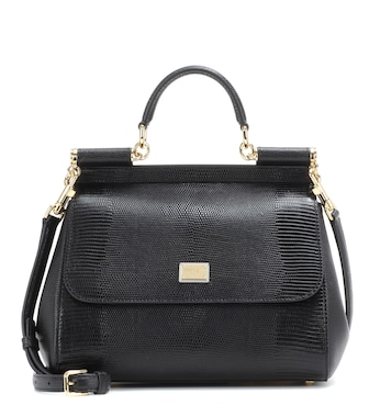 Dolce & Gabbana - Sicily embossed leather shoulder bag - mytheresa.com