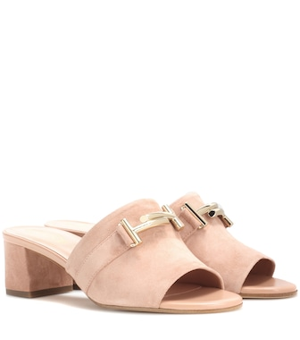 Tod's - Suede mules - mytheresa.com