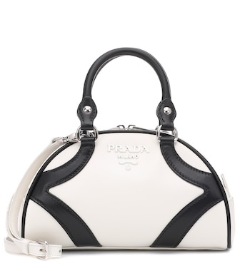 Prada - Bowling leather tote - mytheresa.com
