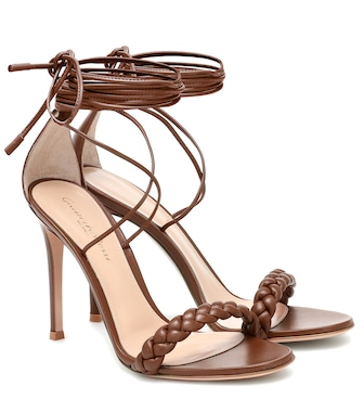 Gianvito Rossi - Leomi 105 braided leather sandals - mytheresa.com