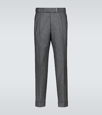 Officine Générale - Luigi pleated wool flannel pants - mytheresa.com