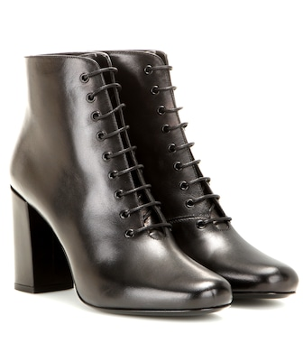 Saint Laurent - Babies 90 leather ankle boots - mytheresa.com