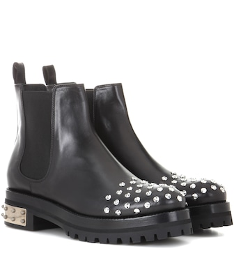 Alexander McQueen - Studded leather Chelsea boots - mytheresa.com