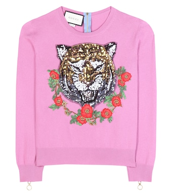 Gucci - Embellished cashmere sweater - mytheresa.com