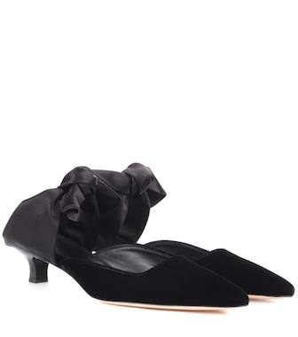 The Row - Coco velvet and satin mules - mytheresa.com