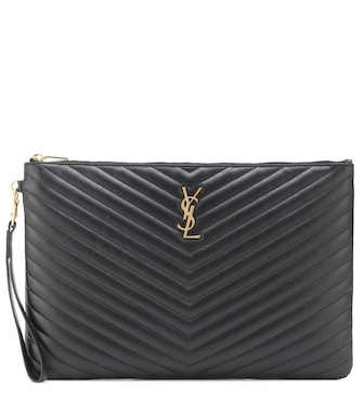Saint Laurent - Monogram leather pouch - mytheresa.com