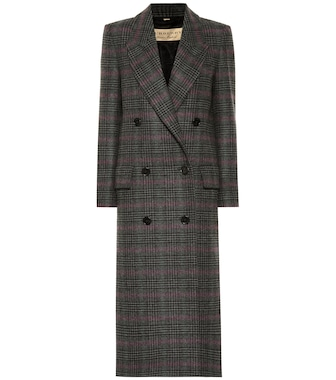 Burberry - Checked wool coat - mytheresa.com