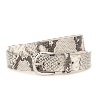 Isabel Marant - Snake-effect leather belt - mytheresa.com
