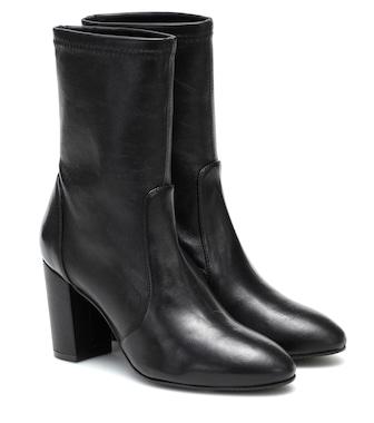 Stuart Weitzman - Yuliana leather ankle boots - mytheresa.com