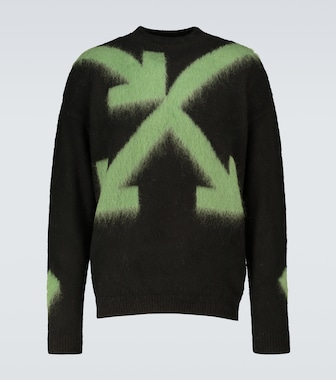 Off-White - Pullover Arrows Fuzzy - mytheresa.com