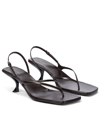 The Row - Constance leather sandals - mytheresa.com