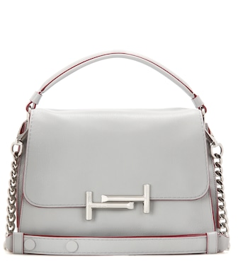 Tod's - Double T Small leather shoulder bag - mytheresa.com