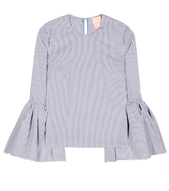 Roksanda - Exclusive to mytheresa.com – Truffaut striped cotton blouse - mytheresa.com