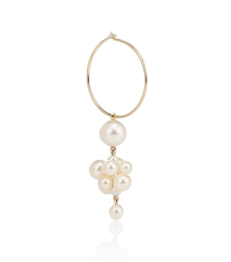 Sophie Bille Brahe - Botticelli 14kt gold single earring with pearls - mytheresa.com