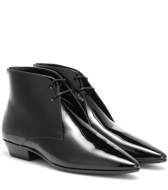 Saint Laurent - Jonas patent leather ankle boots - mytheresa.com