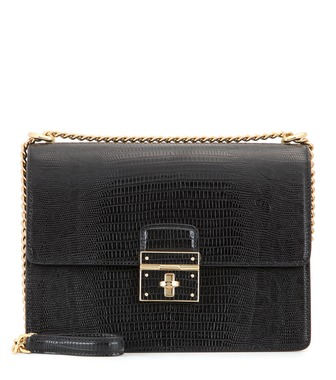 Dolce & Gabbana - Rosalia embossed leather shoulder bag - mytheresa.com