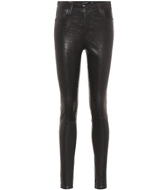 J Brand - Leather skinny pants - mytheresa.com