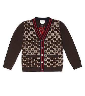 Gucci Kids - Square G wool cardigan - mytheresa.com