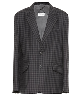 Maison Margiela - Checked wool-blend blazer - mytheresa.com