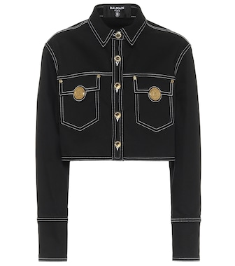 Balmain - Cropped denim jacket - mytheresa.com