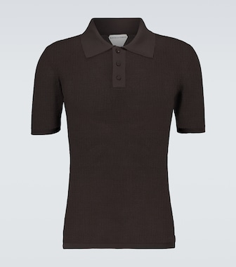 Bottega Veneta - Short-sleeved mesh polo shirt - mytheresa.com