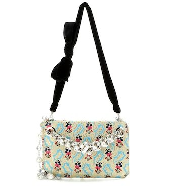Miu Miu - Embellished brocade shoulder bag - mytheresa.com