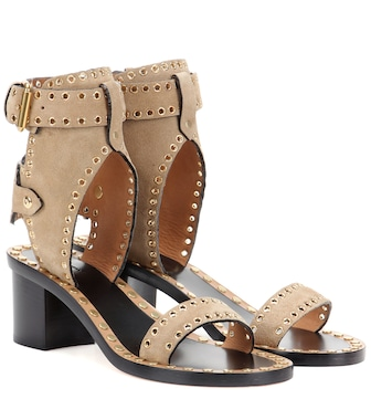 Isabel Marant - Exclusive to mytheresa.com – Jaeryn embellished suede sandals - mytheresa.com
