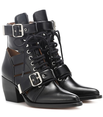Chloé - Rylee leather ankle boots - mytheresa.com