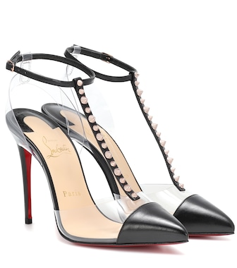 Christian Louboutin - Nosy Spikes PVC and leather pumps - mytheresa.com