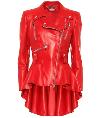 Alexander McQueen - Leather jacket - mytheresa.com