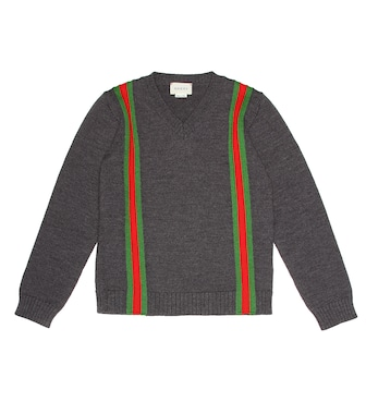 Gucci Kids - Intarsia wool sweater - mytheresa.com
