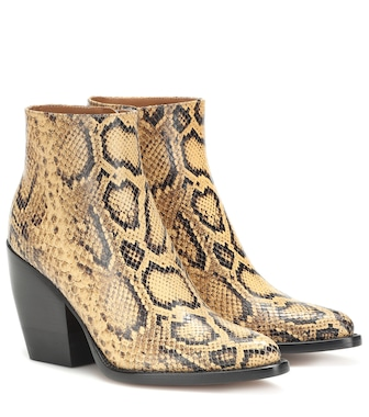 Chloé - Exclusive to Mytheresa – Rylee snake-effect leather boots - mytheresa.com
