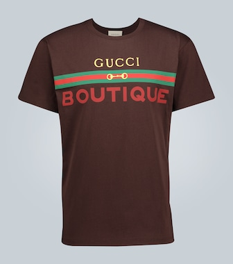 Gucci - Boutique printed cotton T-shirt - mytheresa.com