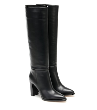Gianvito Rossi - Kerolyn leather knee-high boots - mytheresa.com