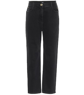 Balmain - High-rise straight-fit jeans - mytheresa.com