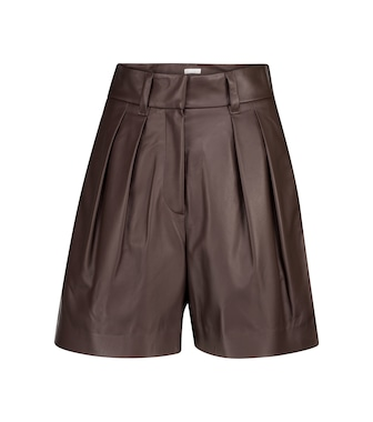 Brunello Cucinelli - Leather Bermuda shorts - mytheresa.com