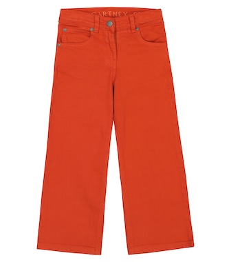 Stella McCartney Kids - Stretch-cotton wide-leg jeans - mytheresa.com