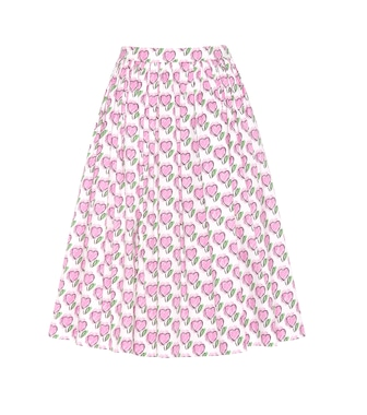 Prada - Printed cotton skirt - mytheresa.com