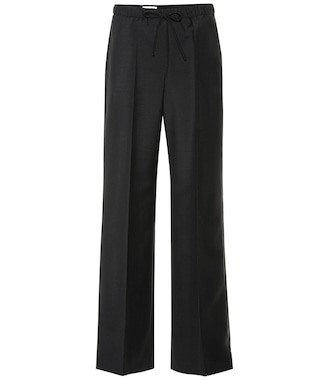 Jil Sander - Wool and mohair wide-leg pants - mytheresa.com