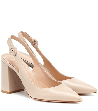 Gianvito Rossi - Agata 85 leather slingback pumps - mytheresa.com
