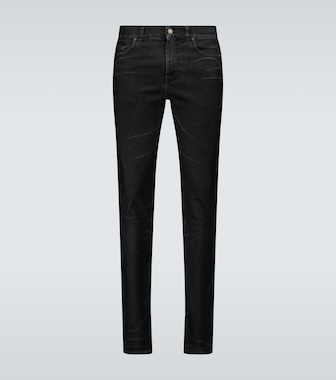 Saint Laurent - Skinny-fit coated jeans - mytheresa.com