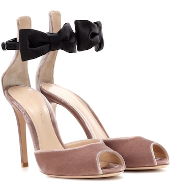 Gianvito Rossi - Exclusive to mytheresa.com – velvet and satin sandals - mytheresa.com
