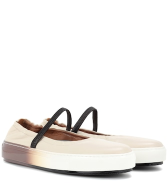 Marni - Leather ballerinas - mytheresa.com
