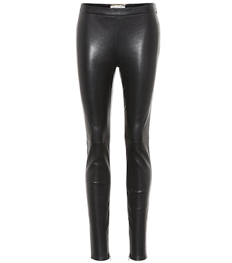 Saint Laurent - Leggings in pelle - mytheresa.com