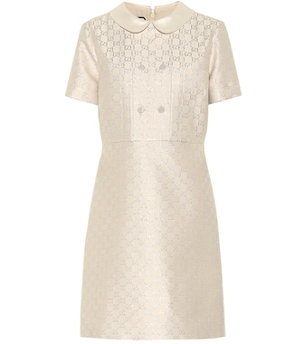 Gucci - GG lamé wool-blend minidress - mytheresa.com