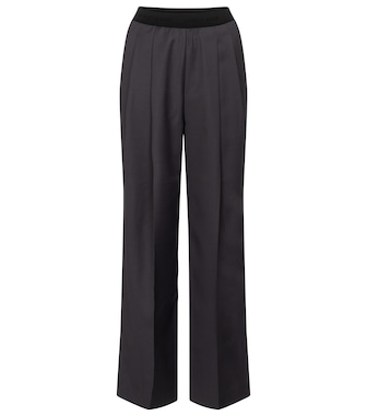 Low classic - High-rise wool-blend straight pants - mytheresa.com