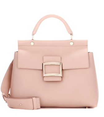 Roger Vivier - Leather shoulder bag - mytheresa.com