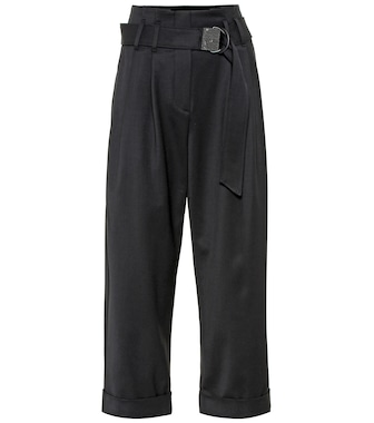 Brunello Cucinelli - High-rise wool-blend cropped pants - mytheresa.com
